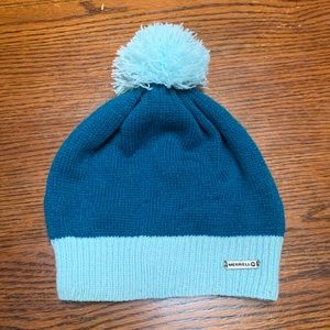 Merrell Youth Pom Top Beanie NWOT